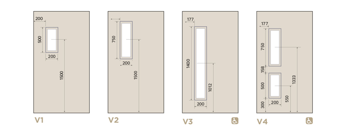 Integra Living Communal Doors Aspex